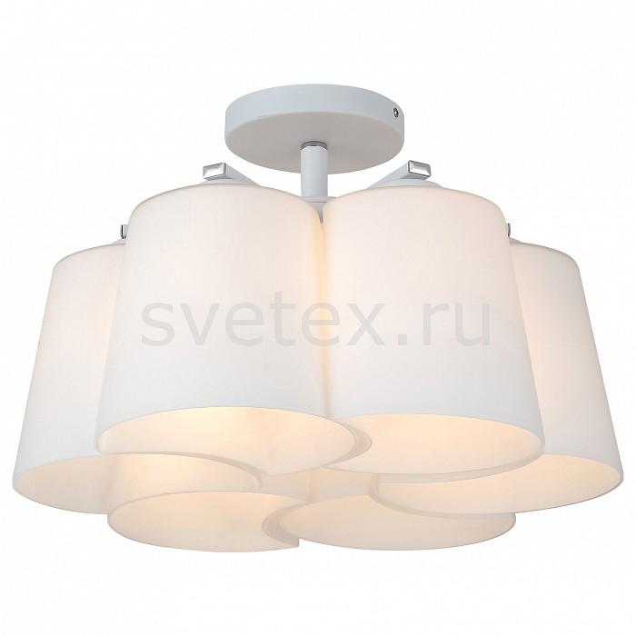 Люстра на штанге ST-LuceЛюстры<br>Артикул - SL543.502.06,Бренд - ST-Luce (Китай),Коллекция - Chiello,Гарантия, месяцы - 24,Высота, мм - 230,Диаметр, мм - 580,Размер упаковки, мм - 720x500x370,Тип лампы - компактная люминесцентная [КЛЛ] ИЛИнакаливания ИЛИсветодиодная [LED],Общее кол-во ламп - 6,Напряжение питания лампы, В - 220,Максимальная мощность лампы, Вт - 60,Лампы в комплекте - отсутствуют,Цвет плафонов и подвесок - белый,Тип поверхности плафонов - матовый,Материал плафонов и подвесок - стекло,Цвет арматуры - серебро,Тип поверхности арматуры - матовый,Материал арматуры - металл,Количество плафонов - 6,Возможность подлючения диммера - можно, если установить лампу накаливания,Тип цоколя лампы - E27,Класс электробезопасности - I,Общая мощность, Вт - 360,Степень пылевлагозащиты, IP - 20,Диапазон рабочих температур - комнатная температура,Дополнительные параметры - способ крепления светильника к потолоку - на монтажной пластине<br>