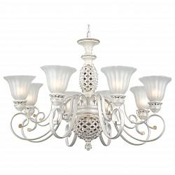 Подвесная люстра ST-LuceБолее 6 ламп<br>Артикул - SL309.503.08,Бренд - ST-Luce (Китай),Коллекция - Elegy,Гарантия, месяцы - 24,Высота, мм - 800,Размер упаковки, мм - 630x430x400,Тип лампы - компактная люминесцентная [КЛЛ] ИЛИнакаливания ИЛИсветодиодная [LED],Общее кол-во ламп - 8,Напряжение питания лампы, В - 220,Максимальная мощность лампы, Вт - 60,Лампы в комплекте - отсутствуют,Цвет плафонов и подвесок - белый,Тип поверхности плафонов - матовый,Материал плафонов и подвесок - стекло,Цвет арматуры - белый, золото,Тип поверхности арматуры - матовый,Материал арматуры - металл,Возможность подлючения диммера - можно, если установить лампу накаливания,Тип цоколя лампы - E27,Класс электробезопасности - I,Общая мощность, Вт - 480,Степень пылевлагозащиты, IP - 20,Диапазон рабочих температур - комнатная температура,Дополнительные параметры - способ крепления светильника к потолку - на крюке, регулируется по высоте<br>