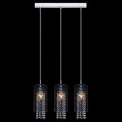 Подвесной светильник EurosvetСветодиодные<br>Артикул - EV_76381,Бренд - Eurosvet (Китай),Коллекция - 50032,Гарантия, месяцы - 24,Высота, мм - 1000,Тип лампы - компактная люминесцентная [КЛЛ] ИЛИнакаливания ИЛИсветодиодная [LED],Общее кол-во ламп - 3,Напряжение питания лампы, В - 220,Максимальная мощность лампы, Вт - 60,Лампы в комплекте - отсутствуют,Цвет плафонов и подвесок - неокрашенный, черный,Тип поверхности плафонов - матовый, прозрачный,Материал плафонов и подвесок - металл, хрусталь,Цвет арматуры - хром,Тип поверхности арматуры - глянцевый,Материал арматуры - металл,Возможность подлючения диммера - можно, если установить лампу накаливания,Тип цоколя лампы - E14,Класс электробезопасности - I,Общая мощность, Вт - 180,Степень пылевлагозащиты, IP - 20,Диапазон рабочих температур - комнатная температура,Дополнительные параметры - способ крепления светильника к потолку - на монтажной пластине, регулируется по высоте<br>