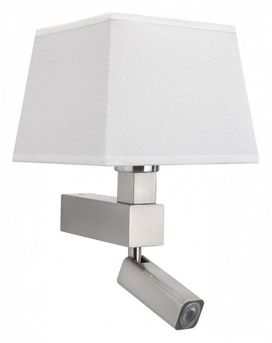 Бра с подсветкой MantraСветодиодные<br>Артикул - MN_5234_5239,Бренд - Mantra (Испания),Коллекция - Bahia,Гарантия, месяцы - 24,Ширина, мм - 200,Высота, мм - 334,Выступ, мм - 215,Тип лампы - компактная люминесцентная [КЛЛ], светодиодная [LED] ИЛИсветодиодные [LED],Общее кол-во ламп - 2,Напряжение питания лампы, В - 220,Максимальная мощность лампы, Вт - 3, 13,Цвет лампы - белый теплый,Лампы в комплекте - светодиодная [LED],Цвет плафонов и подвесок - белый,Тип поверхности плафонов - матовый,Материал плафонов и подвесок - текстиль,Цвет арматуры - никель,Тип поверхности арматуры - сатин,Материал арматуры - металл,Количество плафонов - 1,Наличие выключателя, диммера или пульта ДУ - выключатель,Тип цоколя лампы - E27,Цветовая температура, K - 3000 K,Световой поток, лм - 200,Экономичнее лампы накаливания - в 8.3 раза,Светоотдача, лм/Вт - 67,Класс электробезопасности - I,Общая мощность, Вт - 16,Степень пылевлагозащиты, IP - 20,Диапазон рабочих температур - комнатная температура,Дополнительные параметры - способ крепления светильника на стене – на монтажной пластине, светильник предназначен для использования со скрытой проводкой, поворотный светильник<br>