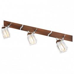 Спот De MarktС 3 лампами<br>Артикул - MW_518020203,Бренд - De Markt (Германия),Коллекция - Лайн,Гарантия, месяцы - 24,Тип лампы - галогеновая ИЛИсветодиодная [LED],Общее кол-во ламп - 3,Напряжение питания лампы, В - 220,Максимальная мощность лампы, Вт - 40,Лампы в комплекте - отсутствуют,Цвет плафонов и подвесок - неокрашенный,Тип поверхности плафонов - прозрачный,Материал плафонов и подвесок - стекло,Цвет арматуры - коричневый, хром,Тип поверхности арматуры - матовый,Материал арматуры - металл,Количество плафонов - 3,Возможность подлючения диммера - можно,Тип цоколя лампы - G9,Класс электробезопасности - I,Степень пылевлагозащиты, IP - 20,Диапазон рабочих температур - комнатная температура,Дополнительные параметры - поворотный светильник<br>