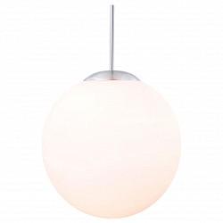 Подвесной светильник GloboБарные<br>Артикул - GB_1581,Бренд - Globo (Австрия),Коллекция - Balla,Гарантия, месяцы - 24,Высота, мм - 1800,Диаметр, мм - 250,Размер упаковки, мм - 325x295x295,Тип лампы - компактная люминесцентная [КЛЛ] ИЛИнакаливания ИЛИсветодиодная [LED],Общее кол-во ламп - 1,Напряжение питания лампы, В - 220,Максимальная мощность лампы, Вт - 60,Лампы в комплекте - отсутствуют,Цвет плафонов и подвесок - молочный,Тип поверхности плафонов - матовый,Материал плафонов и подвесок - стекло,Цвет арматуры - никель,Тип поверхности арматуры - матовый,Материал арматуры - металл,Возможность подлючения диммера - можно, если установить лампу накаливания,Тип цоколя лампы - E27,Класс электробезопасности - I,Степень пылевлагозащиты, IP - 20,Диапазон рабочих температур - комнатная температура,Дополнительные параметры - высота светильника регулируется<br>