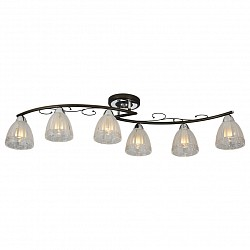 Потолочная люстра IDLamp5 или 6 ламп<br>Артикул - ID_232_6PF-Blackchrome,Бренд - IDLamp (Италия),Коллекция - 232,Высота, мм - 230,Тип лампы - компактная люминесцентная [КЛЛ] ИЛИнакаливания ИЛИсветодиодная [LED],Общее кол-во ламп - 6,Напряжение питания лампы, В - 220,Максимальная мощность лампы, Вт - 60,Лампы в комплекте - отсутствуют,Цвет плафонов и подвесок - неокрашенный,Тип поверхности плафонов - матовый, рельефный,Материал плафонов и подвесок - стекло,Цвет арматуры - венге, хром,Тип поверхности арматуры - глянцевый, матовый,Материал арматуры - металл,Возможность подлючения диммера - можно, если установить лампу накаливания,Тип цоколя лампы - E14,Класс электробезопасности - I,Общая мощность, Вт - 360,Степень пылевлагозащиты, IP - 20,Диапазон рабочих температур - комнатная температура,Дополнительные параметры - способ крепления светильника к потолку – на монтажной пластине<br>