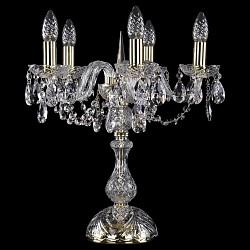 Настольная лампа Bohemia Ivele CrystalНастольные лампы<br>Артикул - BI_5706_5_141_G,Бренд - Bohemia Ivele Crystal (Чехия),Коллекция - 5706,Гарантия, месяцы - 24,Высота, мм - 450,Диаметр, мм - 440,Размер упаковки, мм - 1200x300x300; 300x300x430,Тип лампы - компактная люминесцентная [КЛЛ] ИЛИнакаливания ИЛИсветодиодная [LED],Общее кол-во ламп - 5,Напряжение питания лампы, В - 220,Максимальная мощность лампы, Вт - 40,Лампы в комплекте - отсутствуют,Цвет плафонов и подвесок - неокрашенный,Тип поверхности плафонов - прозрачный,Материал плафонов и подвесок - хрусталь,Цвет арматуры - золото, неокрашенный,Тип поверхности арматуры - глянцевый, прозрачный, рельефный,Материал арматуры - латунь, стекло,Форма и тип колбы - свеча ИЛИ свеча на ветру,Тип цоколя лампы - E14,Класс электробезопасности - II,Общая мощность, Вт - 200,Степень пылевлагозащиты, IP - 20,Диапазон рабочих температур - комнатная температура<br>