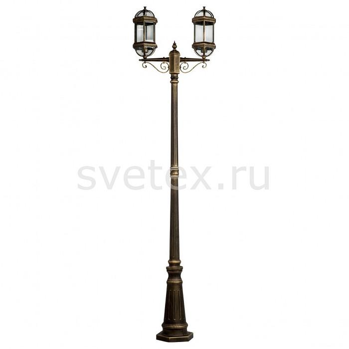 Фонарный столб MW-LightСветильники<br>Артикул - MW_816040602,Бренд - MW-Light (Германия),Коллекция - Плимут,Гарантия, месяцы - 24,Время изготовления, дней - 1,Ширина, мм - 200,Высота, мм - 2280,Выступ, мм - 600,Тип лампы - компактная люминесцентная [КЛЛ] ИЛИнакаливания ИЛИсветодиодная [LED],Общее кол-во ламп - 2,Напряжение питания лампы, В - 220,Максимальная мощность лампы, Вт - 95,Лампы в комплекте - отсутствуют,Цвет плафонов и подвесок - неокрашенный,Тип поверхности плафонов - прозрачный,Материал плафонов и подвесок - стекло,Цвет арматуры - черный с золотой патиной,Тип поверхности арматуры - глянцевый,Материал арматуры - металл,Количество плафонов - 2,Тип цоколя лампы - E27,Класс электробезопасности - II,Общая мощность, Вт - 190,Степень пылевлагозащиты, IP - 44,Диапазон рабочих температур - от -40^C до +40^C<br>