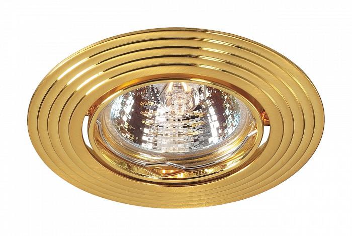 Встраиваемый светильник NovotechКруглые<br>Артикул - NV_369433,Бренд - Novotech (Венгрия),Коллекция - Antic,Гарантия, месяцы - 24,Время изготовления, дней - 1,Глубина, мм - 25,Диаметр, мм - 93,Размер врезного отверстия, мм - 75,Тип лампы - галогеновая ИЛИсветодиодная [LED],Общее кол-во ламп - 1,Напряжение питания лампы, В - 12,Максимальная мощность лампы, Вт - 50,Лампы в комплекте - отсутствуют,Тип поверхности плафонов - глянцевый,Материал плафонов и подвесок - алюминиевое литье,Цвет арматуры - золото,Тип поверхности арматуры - глянцевый,Материал арматуры - алюминиевое литье,Количество плафонов - 1,Возможность подлючения диммера - можно, если установить галогеновую лампу,Форма и тип колбы - полусферическая с рефлектором ИЛИполусферическая с радиатором,Тип цоколя лампы - GX5.3,Экономичнее лампы накаливания - на 50%,Класс электробезопасности - III,Напряжение питания, В - 220,Степень пылевлагозащиты, IP - 20,Диапазон рабочих температур - комнатная температура,Дополнительные параметры - возможна установка лампы GX5.3 (MR-16) на 12 В с подключением через трансформатор 12 В<br>