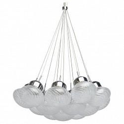 Подвесной светильник RegenBogen LIFEБарные<br>Артикул - MW_392015613,Бренд - RegenBogen LIFE (Германия),Коллекция - Фьюжен 15,Гарантия, месяцы - 24,Высота, мм - 260-870,Диаметр, мм - 600,Тип лампы - светодиодная [LED],Общее кол-во ламп - 13,Максимальная мощность лампы, Вт - 3,Лампы в комплекте - светодиодные [LED],Цвет плафонов и подвесок - неокрашенный,Тип поверхности плафонов - прозрачный, рельефный,Материал плафонов и подвесок - стекло,Цвет арматуры - хром,Тип поверхности арматуры - глянцевый,Материал арматуры - металл,Возможность подлючения диммера - нельзя,Класс электробезопасности - I,Общая мощность, Вт - 39,Степень пылевлагозащиты, IP - 20,Диапазон рабочих температур - комнатная температура,Дополнительные параметры - способ крепления светильника к потолоку - на монтажной пластине, регулируется по высоте<br>