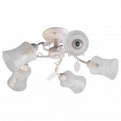 Люстра на штанге TopLight5 или 6 ламп<br>Артикул - TPL_TL7140X-05WG,Бренд - TopLight (Россия),Коллекция - Alyson,Гарантия, месяцы - 24,Высота, мм - 200,Диаметр, мм - 640,Размер упаковки, мм - 250x180x700,Тип лампы - компактная люминесцентная [КЛЛ] ИЛИнакаливания ИЛИсветодиодная [LED],Общее кол-во ламп - 5,Напряжение питания лампы, В - 220,Максимальная мощность лампы, Вт - 60,Лампы в комплекте - отсутствуют,Цвет плафонов и подвесок - белый полосатый с неокрашенным рисунком,Тип поверхности плафонов - матовый,Материал плафонов и подвесок - стекло,Цвет арматуры - белый с золотой патиной,Тип поверхности арматуры - глянцевый, матовый,Материал арматуры - металл,Возможность подлючения диммера - можно, если установить лампу накаливания,Тип цоколя лампы - E14,Класс электробезопасности - I,Общая мощность, Вт - 300,Степень пылевлагозащиты, IP - 20,Диапазон рабочих температур - комнатная температура,Дополнительные параметры - способ крепления светильника к потолку - на монтажной пластине<br>