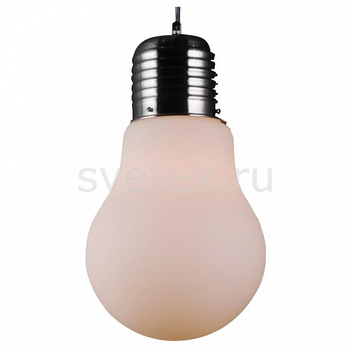 Подвесной светильник ST-LuceБарные<br>Артикул - SL299.503.01,Бренд - ST-Luce (Китай),Коллекция - Buld,Гарантия, месяцы - 24,Высота, мм - 600-1200,Диаметр, мм - 300,Размер упаковки, мм - 360x360x570,Тип лампы - компактная люминесцентная [КЛЛ] ИЛИнакаливания ИЛИсветодиодная [LED],Общее кол-во ламп - 1,Напряжение питания лампы, В - 220,Максимальная мощность лампы, Вт - 40,Лампы в комплекте - отсутствуют,Цвет плафонов и подвесок - белый,Тип поверхности плафонов - матовый,Материал плафонов и подвесок - стекло,Цвет арматуры - никель,Тип поверхности арматуры - сатин,Материал арматуры - металл,Количество плафонов - 1,Возможность подлючения диммера - можно, если установить лампу накаливания,Тип цоколя лампы - E27,Класс электробезопасности - I,Степень пылевлагозащиты, IP - 20,Диапазон рабочих температур - комнатная температура,Дополнительные параметры - способ крепления светильника к потолку – на крюке, регулируется по высоте<br>