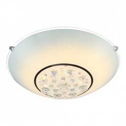 Накладной светильник GloboКруглые<br>Артикул - GB_48175-12,Бренд - Globo (Австрия),Коллекция - Louise,Гарантия, месяцы - 24,Высота, мм - 110,Диаметр, мм - 300,Тип лампы - светодиодная [LED],Общее кол-во ламп - 1,Напряжение питания лампы, В - 19.8,Максимальная мощность лампы, Вт - 12,Лампы в комплекте - светодиодная [LED],Цвет плафонов и подвесок - белый, неокрашенный,Тип поверхности плафонов - матовый, прозрачный,Материал плафонов и подвесок - стекло, хрусталь K5,Цвет арматуры - хром,Тип поверхности арматуры - глянцевый,Материал арматуры - металл,Количество плафонов - 1,Возможность подлючения диммера - нельзя,Класс электробезопасности - I,Степень пылевлагозащиты, IP - 20,Диапазон рабочих температур - комнатная температура<br>