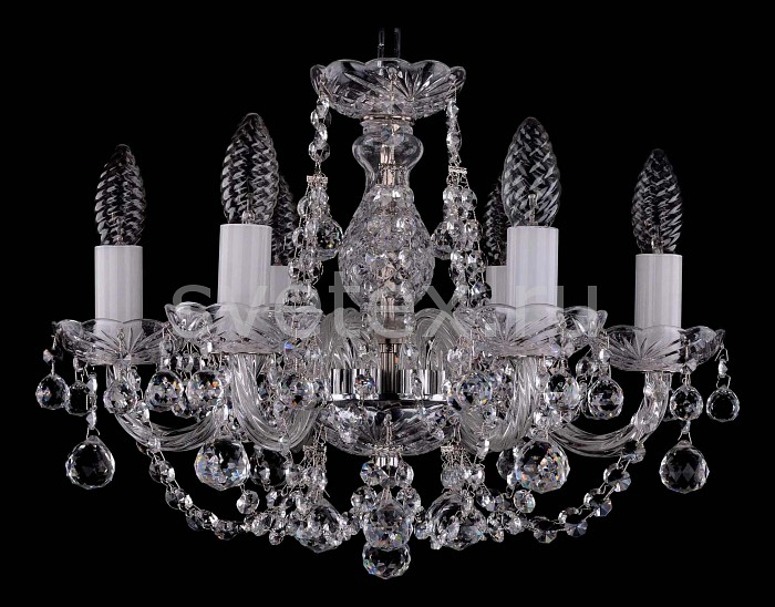 Фото Подвесная люстра Bohemia Ivele Crystal 1406 1406/6/141/Ni/Balls