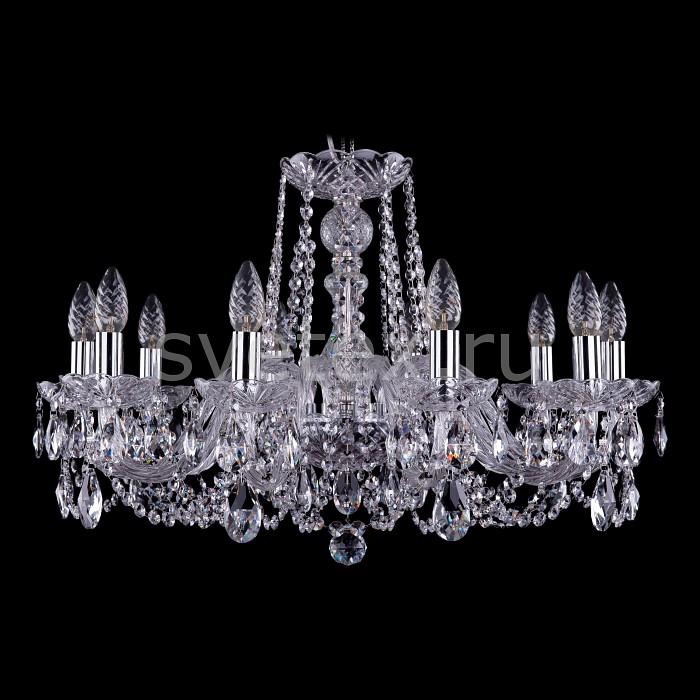 Фото Подвесная люстра Bohemia Ivele Crystal 1402 1402/10/240/Ni