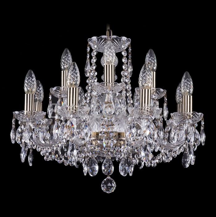 Фото Подвесная люстра Bohemia Ivele Crystal 1402 1402/8_4/195/Pa