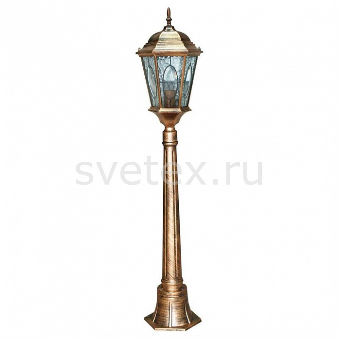 Наземный высокий светильник FeronСветильники<br>Артикул - FE_11323,Бренд - Feron (Китай),Коллекция - Витраж с овалом,Гарантия, месяцы - 24,Ширина, мм - 240,Высота, мм - 1225,Выступ, мм - 240,Тип лампы - компактная люминесцентная [КЛЛ] ИЛИнакаливания ИЛИсветодиодная [LED],Общее кол-во ламп - 1,Напряжение питания лампы, В - 220,Максимальная мощность лампы, Вт - 60,Лампы в комплекте - отсутствуют,Цвет плафонов и подвесок - неокрашенный,Тип поверхности плафонов - прозрачный, рельефный,Материал плафонов и подвесок - стекло,Цвет арматуры - золото черненое,Тип поверхности арматуры - матовый,Материал арматуры - силумин,Количество плафонов - 1,Тип цоколя лампы - E27,Класс электробезопасности - I,Степень пылевлагозащиты, IP - 44,Диапазон рабочих температур - от -40^C до +40^C<br>