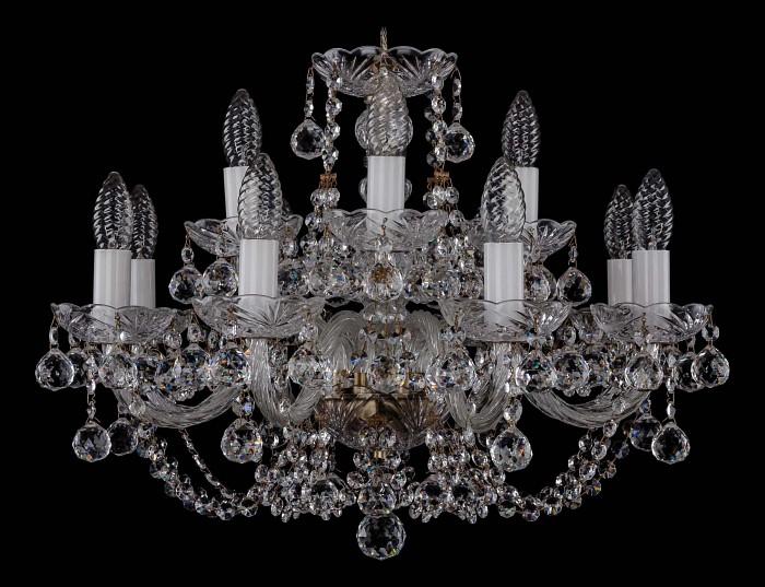 Фото Подвесная люстра Bohemia Ivele Crystal 1406 1406/8_4/195/Pa/Balls
