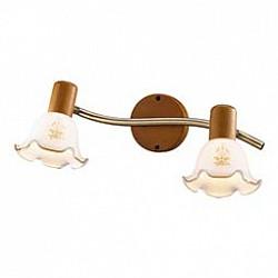 Спот Odeon LightС 2 лампами<br>Артикул - OD_1977_2W,Бренд - Odeon Light (Италия),Коллекция - Vega,Гарантия, месяцы - 24,Время изготовления, дней - 1,Тип лампы - компактная люминесцентная [КЛЛ] ИЛИнакаливания ИЛИсветодиодная [LED],Общее кол-во ламп - 2,Напряжение питания лампы, В - 220,Максимальная мощность лампы, Вт - 40,Лампы в комплекте - отсутствуют,Цвет плафонов и подвесок - белый с коричневым рисунком,Тип поверхности плафонов - матовый,Материал плафонов и подвесок - стекло,Цвет арматуры - бронза, коричневый,Тип поверхности арматуры - матовый,Материал арматуры - металл, дерево,Возможность подлючения диммера - можно, если установить лампу накаливания,Тип цоколя лампы - E14,Класс электробезопасности - I,Общая мощность, Вт - 80,Степень пылевлагозащиты, IP - 20,Диапазон рабочих температур - комнатная температура,Дополнительные параметры - поворотный светильник<br>
