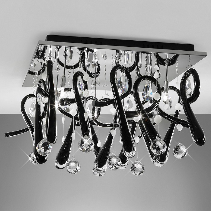 Накладной светильник MantraКвадратные<br>Артикул - MN_0723,Бренд - Mantra (Испания),Коллекция - Class,Гарантия, месяцы - 24,Время изготовления, дней - 1,Длина, мм - 450,Ширина, мм - 450,Высота, мм - 350,Тип лампы - галогеновая,Общее кол-во ламп - 10,Напряжение питания лампы, В - 12,Максимальная мощность лампы, Вт - 20,Цвет лампы - белый теплый,Лампы в комплекте - галогеновые G4,Цвет плафонов и подвесок - неокрашенный, черный,Тип поверхности плафонов - прозрачный,Материал плафонов и подвесок - стекло, хрусталь,Цвет арматуры - хром,Тип поверхности арматуры - глянцевый,Материал арматуры - металл,Возможность подлючения диммера - нельзя,Компоненты, входящие в комплект - трансформатор 12 В,Форма и тип колбы - пальчиковая,Тип цоколя лампы - G4,Цветовая температура, K - 2800 - 3200 K,Экономичнее лампы накаливания - на 50%,Класс электробезопасности - I,Напряжение питания, В - 220,Общая мощность, Вт - 200,Степень пылевлагозащиты, IP - 20,Диапазон рабочих температур - комнатная температура<br>