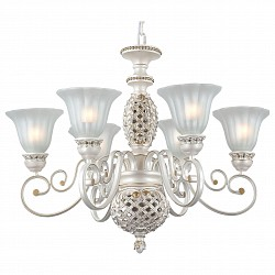 Подвесная люстра ST-Luce5 или 6 ламп<br>Артикул - SL309.503.06,Бренд - ST-Luce (Китай),Коллекция - Elegy,Гарантия, месяцы - 24,Высота, мм - 760,Размер упаковки, мм - 630x430x370,Тип лампы - компактная люминесцентная [КЛЛ] ИЛИнакаливания ИЛИсветодиодная [LED],Общее кол-во ламп - 6,Напряжение питания лампы, В - 220,Максимальная мощность лампы, Вт - 60,Лампы в комплекте - отсутствуют,Цвет плафонов и подвесок - белый,Тип поверхности плафонов - матовый,Материал плафонов и подвесок - стекло,Цвет арматуры - белый, золото,Тип поверхности арматуры - матовый,Материал арматуры - металл,Возможность подлючения диммера - можно, если установить лампу накаливания,Тип цоколя лампы - E27,Класс электробезопасности - I,Общая мощность, Вт - 360,Степень пылевлагозащиты, IP - 20,Диапазон рабочих температур - комнатная температура,Дополнительные параметры - способ крепления светильника к потолку - на крюке, регулируется по высоте<br>