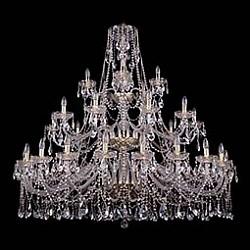 Подвесная люстра Bohemia Ivele CrystalБолее 6 ламп<br>Артикул - BI_1413_20_10_5_530_135_G,Бренд - Bohemia Ivele Crystal (Чехия),Коллекция - 1413,Гарантия, месяцы - 24,Высота, мм - 1350,Диаметр, мм - 1460,Размер упаковки, мм - 710x710x350,Тип лампы - компактная люминесцентная [КЛЛ] ИЛИнакаливания ИЛИсветодиодная [LED],Общее кол-во ламп - 35,Напряжение питания лампы, В - 220,Максимальная мощность лампы, Вт - 40,Лампы в комплекте - отсутствуют,Цвет плафонов и подвесок - неокрашенный,Тип поверхности плафонов - прозрачный,Материал плафонов и подвесок - хрусталь,Цвет арматуры - золото, неокрашенный,Тип поверхности арматуры - глянцевый, прозрачный, рельефный,Материал арматуры - металл, стекло,Возможность подлючения диммера - можно, если установить лампу накаливания,Форма и тип колбы - свеча ИЛИ свеча на ветру,Тип цоколя лампы - E14,Класс электробезопасности - I,Общая мощность, Вт - 1400,Степень пылевлагозащиты, IP - 20,Диапазон рабочих температур - комнатная температура,Дополнительные параметры - способ крепления светильника к потолку - на крюке, указана высота светильника без подвеса<br>