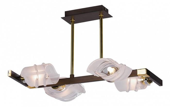 Люстра на штанге VelanteЛюстры<br>Артикул - VE_262-303-04,Бренд - Velante (Италия),Коллекция - 262,Гарантия, месяцы - 24,Длина, мм - 400,Ширина, мм - 280,Высота, мм - 260,Тип лампы - галогеновая,Общее кол-во ламп - 4,Напряжение питания лампы, В - 220,Максимальная мощность лампы, Вт - 40,Цвет лампы - белый теплый,Лампы в комплекте - галогеновые G9,Цвет плафонов и подвесок - неокрашенный,Тип поверхности плафонов - матовый, рельефный,Материал плафонов и подвесок - стекло,Цвет арматуры - золото, венге,Тип поверхности арматуры - глянцевый, матовый,Материал арматуры - металл,Количество плафонов - 4,Возможность подлючения диммера - можно,Форма и тип колбы - пальчиковая,Тип цоколя лампы - G9,Цветовая температура, K - 2800 - 3200 K,Экономичнее лампы накаливания - на 50%,Класс электробезопасности - I,Общая мощность, Вт - 160,Степень пылевлагозащиты, IP - 20,Диапазон рабочих температур - комнатная температура,Дополнительные параметры - способ крепления светильника к потолку - на монтажной пластине<br>