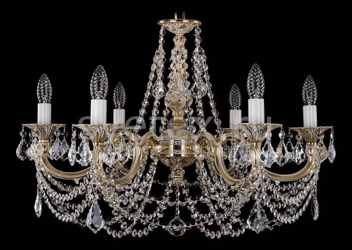 Фото Подвесная люстра Bohemia Ivele Crystal 1702 1702/6/C/GW/Leafs