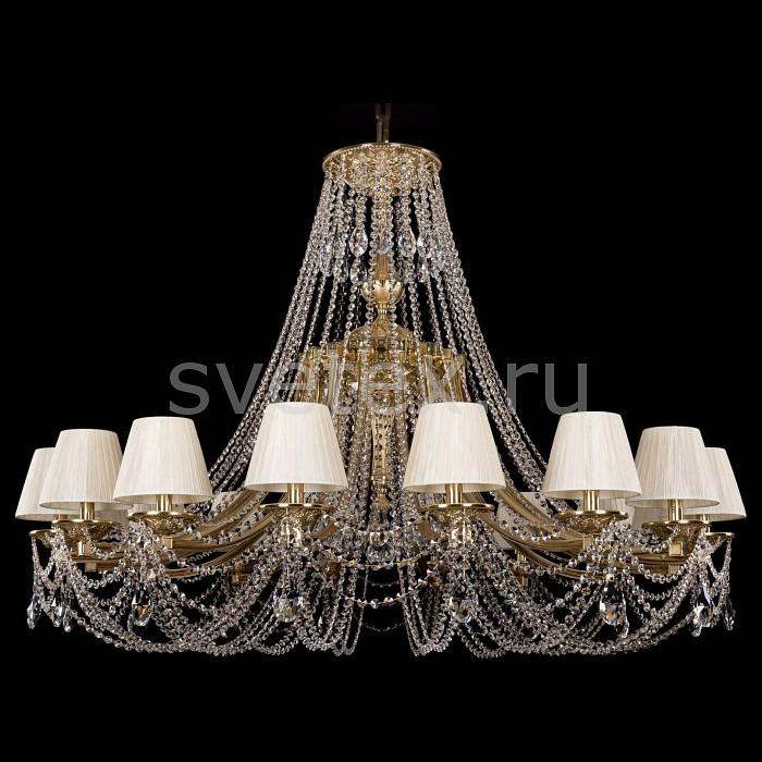 Подвесная люстра Bohemia Ivele CrystalПотолочные светильники и люстры<br>Артикул - BI_1771_16_490_C_G_SH33-160,Бренд - Bohemia Ivele Crystal (Чехия),Коллекция - 1771,Гарантия, месяцы - 24,Высота, мм - 980,Диаметр, мм - 1350,Размер упаковки, мм - 710x710x350,Тип лампы - компактная люминесцентная [КЛЛ] ИЛИнакаливания ИЛИсветодиодная [LED],Общее кол-во ламп - 16,Напряжение питания лампы, В - 220,Максимальная мощность лампы, Вт - 40,Лампы в комплекте - отсутствуют,Цвет плафонов и подвесок - белый, неокрашенный,Тип поверхности плафонов - матовый, прозрачный,Материал плафонов и подвесок - текстиль, хрусталь,Цвет арматуры - золото,Тип поверхности арматуры - глянцевый,Материал арматуры - металл,Количество плафонов - 16,Возможность подлючения диммера - можно, если установить лампу накаливания,Тип цоколя лампы - E14,Класс электробезопасности - I,Общая мощность, Вт - 640,Степень пылевлагозащиты, IP - 20,Диапазон рабочих температур - комнатная температура,Дополнительные параметры - способ крепления светильника к потолку - на крюке, указана высота светильники без подвеса<br>