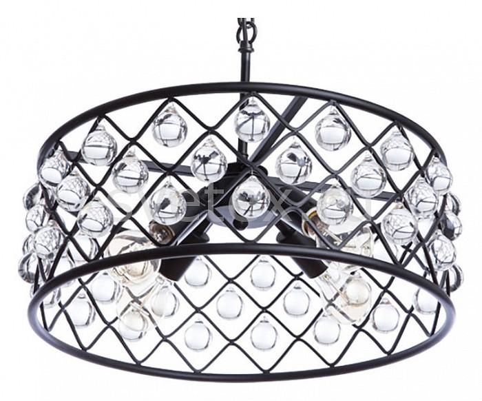 Подвесной светильник DivinareПодвесные светильники<br>Артикул - DV_8203_01_SP-4,Бренд - Divinare (Италия),Коллекция - Brava,Гарантия, месяцы - 24,Высота, мм - 400-1200,Диаметр, мм - 500,Тип лампы - компактная люминесцентная [КЛЛ] ИЛИнакаливания ИЛИсветодиодная [LED],Общее кол-во ламп - 4,Напряжение питания лампы, В - 220,Максимальная мощность лампы, Вт - 40,Лампы в комплекте - отсутствуют,Цвет плафонов и подвесок - неокрашенный, черный,Тип поверхности плафонов - матовый, прозрачный,Материал плафонов и подвесок - металл, хрусталь,Цвет арматуры - черный,Тип поверхности арматуры - матовый,Материал арматуры - металл,Количество плафонов - 4,Возможность подлючения диммера - можно, если установить лампу накаливания,Тип цоколя лампы - E27,Класс электробезопасности - I,Общая мощность, Вт - 160,Степень пылевлагозащиты, IP - 20,Диапазон рабочих температур - комнатная температура,Дополнительные параметры - способ крепления светильника к потолку - на монтажной пластине, регулируется по высоте<br>