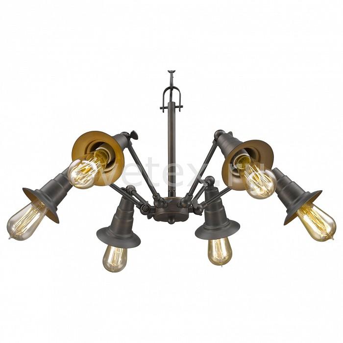 Подвесная люстра FavouriteЛюстры<br>Артикул - FV_1476-6P,Бренд - Favourite (Германия),Коллекция - Spider,Гарантия, месяцы - 24,Время изготовления, дней - 1,Высота, мм - 460-1460,Диаметр, мм - 530,Тип лампы - компактная люминесцентная [КЛЛ] ИЛИнакаливания ИЛИсветодиодная [LED],Общее кол-во ламп - 6,Напряжение питания лампы, В - 220,Максимальная мощность лампы, Вт - 60,Лампы в комплекте - отсутствуют,Цвет арматуры - коричневый,Тип поверхности арматуры - матовый,Материал арматуры - металл,Возможность подлючения диммера - можно, если установить лампу накаливания,Тип цоколя лампы - E27,Класс электробезопасности - I,Общая мощность, Вт - 360,Степень пылевлагозащиты, IP - 20,Диапазон рабочих температур - комнатная температура<br>