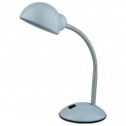 Настольная лампа Odeon LightМеталлический плафон<br>Артикул - OD_2084_1T,Бренд - Odeon Light (Италия),Коллекция - Kiva,Гарантия, месяцы - 24,Время изготовления, дней - 1,Высота, мм - 340,Тип лампы - компактная люминесцентная [КЛЛ] ИЛИнакаливания ИЛИсветодиодная [LED],Общее кол-во ламп - 1,Напряжение питания лампы, В - 220,Максимальная мощность лампы, Вт - 60,Лампы в комплекте - отсутствуют,Цвет плафонов и подвесок - белый,Тип поверхности плафонов - глянцевый,Материал плафонов и подвесок - металл,Цвет арматуры - белый, серебро,Тип поверхности арматуры - глянцевый, рельефный,Материал арматуры - металл,Тип цоколя лампы - E27,Класс электробезопасности - II,Степень пылевлагозащиты, IP - 20,Диапазон рабочих температур - комнатная температура,Дополнительные параметры - поворотный светильник<br>