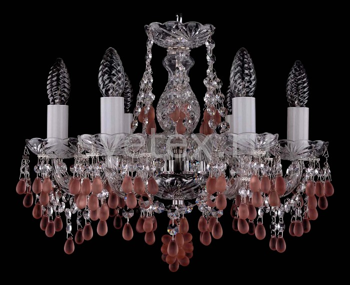 Фото Подвесная люстра Bohemia Ivele Crystal 1410 1410/6/141/Ni/7010