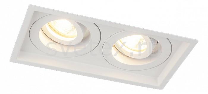 Встраиваемый светильник ElektrostandardСветильники<br>Артикул - ELK_a036504,Бренд - Elektrostandard (Россия),Коллекция - 1071,Гарантия, месяцы - 24,Длина, мм - 200,Ширина, мм - 110,Высота, мм - 55,Выступ, мм - 2,Глубина, мм - 53,Размер врезного отверстия, мм - 188x100,Тип лампы - галогеновая ИЛИсветодиодная [LED],Общее кол-во ламп - 2,Напряжение питания лампы, В - 220,Максимальная мощность лампы, Вт - 50,Лампы в комплекте - отсутствуют,Цвет арматуры - белый,Тип поверхности арматуры - матовый,Материал арматуры - дюралюминий,Компоненты, входящие в комплект - рефлектор,Форма и тип колбы - пальчиковая,Тип цоколя лампы - G5.3,Класс электробезопасности - I,Общая мощность, Вт - 100,Степень пылевлагозащиты, IP - 20,Диапазон рабочих температур - комнатная температура,Дополнительные параметры - поворотный светильник<br>
