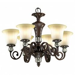 Подвесная люстра Odeon Light5 или 6 ламп<br>Артикул - OD_2784_6,Бренд - Odeon Light (Италия),Коллекция - Ridera,Гарантия, месяцы - 24,Высота, мм - 550,Диаметр, мм - 720,Тип лампы - компактная люминесцентная [КЛЛ] ИЛИнакаливания ИЛИсветодиодная [LED],Общее кол-во ламп - 6,Напряжение питания лампы, В - 220,Максимальная мощность лампы, Вт - 60,Лампы в комплекте - отсутствуют,Цвет плафонов и подвесок - бежевый,Тип поверхности плафонов - матовый,Материал плафонов и подвесок - стекло,Цвет арматуры - коричневый, серебро,Тип поверхности арматуры - глянцевый, матовый,Материал арматуры - металл, полиэфирная смола,Возможность подлючения диммера - можно, если установить лампу накаливания,Тип цоколя лампы - E27,Класс электробезопасности - I,Общая мощность, Вт - 360,Степень пылевлагозащиты, IP - 20,Диапазон рабочих температур - комнатная температура,Дополнительные параметры - указана высота светильника без подвеса<br>