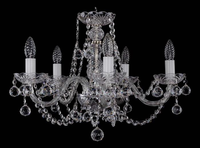 Фото Подвесная люстра Bohemia Ivele Crystal 1406 1406/5/195/Ni/Balls