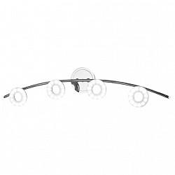 Спот IDLampС 4 лампами<br>Артикул - ID_351_4A-Chrome,Бренд - IDLamp (Италия),Коллекция - 351,Тип лампы - светодиодная [LED],Общее кол-во ламп - 4,Напряжение питания лампы, В - 220,Максимальная мощность лампы, Вт - 6,Лампы в комплекте - светодиодные [LED],Цвет плафонов и подвесок - белый,Тип поверхности плафонов - матовый,Материал плафонов и подвесок - стекло,Цвет арматуры - хром,Тип поверхности арматуры - глянцевый,Материал арматуры - металл,Возможность подлючения диммера - нельзя,Класс электробезопасности - I,Общая мощность, Вт - 24,Степень пылевлагозащиты, IP - 20,Диапазон рабочих температур - комнатная температура,Дополнительные параметры - поворотный светильник, способ крепления светильника – на монтажной пластине<br>