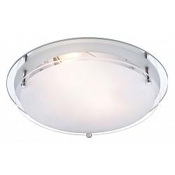Накладной светильник GloboКруглые<br>Артикул - GB_48167-2,Бренд - Globo (Австрия),Коллекция - Indi,Гарантия, месяцы - 24,Высота, мм - 85,Диаметр, мм - 315,Тип лампы - компактная люминесцентная [КЛЛ] ИЛИнакаливания ИЛИсветодиодная [LED],Общее кол-во ламп - 2,Напряжение питания лампы, В - 220,Максимальная мощность лампы, Вт - 60,Лампы в комплекте - отсутствуют,Цвет плафонов и подвесок - белый с неокрашенной каймой,Тип поверхности плафонов - матовый, прозрачный,Материал плафонов и подвесок - стекло,Цвет арматуры - хром,Тип поверхности арматуры - глянцевый,Материал арматуры - металл,Возможность подлючения диммера - можно, если установить лампу накаливания,Тип цоколя лампы - E27,Класс электробезопасности - I,Общая мощность, Вт - 120,Степень пылевлагозащиты, IP - 20,Диапазон рабочих температур - комнатная температура<br>