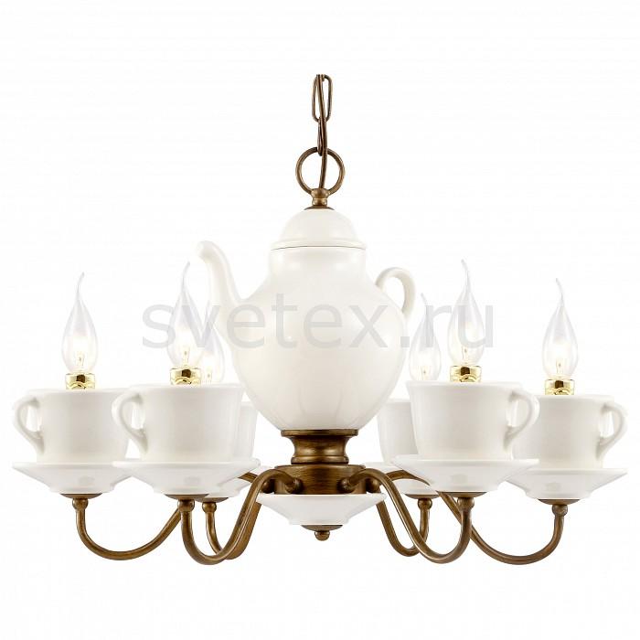 Подвесная люстра Arte LampЛюстры<br>Артикул - AR_A6483LM-6WH,Бренд - Arte Lamp (Италия),Коллекция - Servizio,Гарантия, месяцы - 24,Время изготовления, дней - 1,Высота, мм - 400-1200,Диаметр, мм - 600,Тип лампы - компактная люминесцентная [КЛЛ] ИЛИнакаливания ИЛИсветодиодная [LED],Общее кол-во ламп - 6,Напряжение питания лампы, В - 220,Максимальная мощность лампы, Вт - 60,Лампы в комплекте - отсутствуют,Цвет арматуры - белый, коричневый,Тип поверхности арматуры - глянцевый,Материал арматуры - керамика, металл,Возможность подлючения диммера - можно, если установить лампу накаливания,Форма и тип колбы - свеча ИЛИ свеча на ветру,Тип цоколя лампы - E14,Класс электробезопасности - I,Общая мощность, Вт - 360,Степень пылевлагозащиты, IP - 20,Диапазон рабочих температур - комнатная температура,Дополнительные параметры - способ крепления светильника к потолку – на крюке<br>