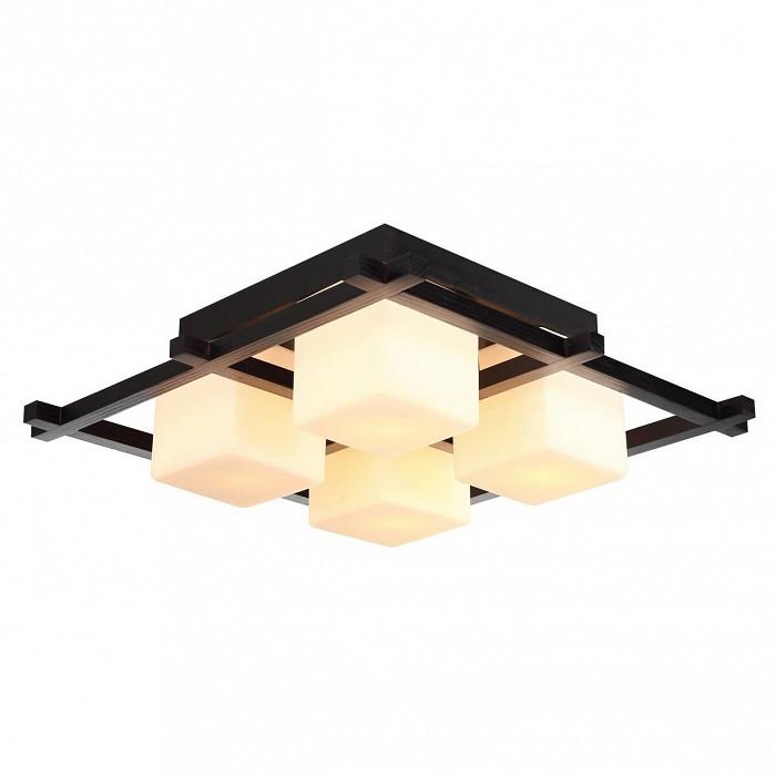 Накладной светильник Arte LampКвадратные<br>Артикул - AR_A8252PL-4CK,Бренд - Arte Lamp (Италия),Коллекция - Woods,Гарантия, месяцы - 24,Время изготовления, дней - 1,Длина, мм - 520,Ширина, мм - 520,Высота, мм - 200,Тип лампы - компактная люминесцентная [КЛЛ] ИЛИнакаливания ИЛИсветодиодная [LED],Общее кол-во ламп - 4,Напряжение питания лампы, В - 220,Максимальная мощность лампы, Вт - 60,Лампы в комплекте - отсутствуют,Цвет плафонов и подвесок - белый,Тип поверхности плафонов - матовый,Материал плафонов и подвесок - стекло,Цвет арматуры - шоколад,Тип поверхности арматуры - матовый,Материал арматуры - дерево,Количество плафонов - 4,Возможность подлючения диммера - можно, если установить лампу накаливания,Тип цоколя лампы - E27,Класс электробезопасности - I,Общая мощность, Вт - 240,Степень пылевлагозащиты, IP - 20,Диапазон рабочих температур - комнатная температура,Дополнительные параметры - способ крепления светильника к потолку - на монтажной пластине<br>