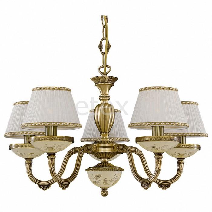 Подвесная люстра Reccagni AngeloСветильники<br>Артикул - RA_L_6422_5,Бренд - Reccagni Angelo (Италия),Коллекция - 6422,Гарантия, месяцы - 24,Высота, мм - 400-1500,Диаметр, мм - 640,Тип лампы - компактная люминесцентная [КЛЛ] ИЛИнакаливания ИЛИсветодиодная [LED],Общее кол-во ламп - 5,Напряжение питания лампы, В - 220,Максимальная мощность лампы, Вт - 60,Лампы в комплекте - отсутствуют,Цвет плафонов и подвесок - белый с каймой,Тип поверхности плафонов - матовый,Материал плафонов и подвесок - текстиль,Цвет арматуры - бежевый с рисунком, бронза состаренная,Тип поверхности арматуры - матовый, рельефный,Материал арматуры - латунь, стекло,Количество плафонов - 5,Возможность подлючения диммера - можно, если установить лампу накаливания,Тип цоколя лампы - E14,Класс электробезопасности - I,Общая мощность, Вт - 300,Степень пылевлагозащиты, IP - 20,Диапазон рабочих температур - комнатная температура,Дополнительные параметры - способ крепления светильника к потолку - на крюке, регулируется по высоте<br>