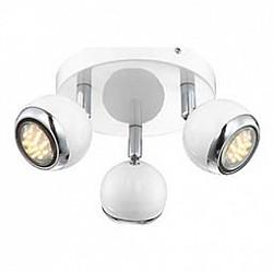 Спот GloboС 3 лампами<br>Артикул - GB_57882-3O,Бренд - Globo (Австрия),Коллекция - Oman,Гарантия, месяцы - 24,Диаметр, мм - 180,Тип лампы - галогеновая ИЛИсветодиодная [LED],Общее кол-во ламп - 3,Напряжение питания лампы, В - 220,Максимальная мощность лампы, Вт - 50,Лампы в комплекте - отсутствуют,Цвет плафонов и подвесок - белый с хромированной каймой,Тип поверхности плафонов - глянцевый, матовый,Материал плафонов и подвесок - металл,Цвет арматуры - белый, хром,Тип поверхности арматуры - глянцевый, матовый,Материал арматуры - металл,Количество плафонов - 3,Возможность подлючения диммера - нельзя,Тип цоколя лампы - GU10,Класс электробезопасности - I,Степень пылевлагозащиты, IP - 20,Диапазон рабочих температур - комнатная температура,Дополнительные параметры - способ крепления светильника к потолку и стене - на монтажной пластине, поворотный светильник<br>