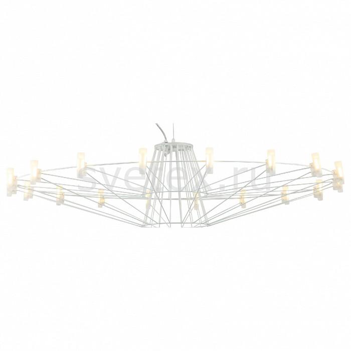 Подвесная люстра FavouriteПолимерные плафоны<br>Артикул - FV_1637-18P,Бренд - Favourite (Германия),Коллекция - Salute,Гарантия, месяцы - 24,Высота, мм - 270-1270,Диаметр, мм - 1020,Тип лампы - светодиодная [LED],Общее кол-во ламп - 18,Максимальная мощность лампы, Вт - 2,Цвет лампы - белый,Лампы в комплекте - светодиодные [LED],Цвет плафонов и подвесок - белый,Тип поверхности плафонов - матовый,Материал плафонов и подвесок - акрил,Цвет арматуры - белый,Тип поверхности арматуры - матовый,Материал арматуры - металл,Количество плафонов - 18,Возможность подлючения диммера - нельзя,Цветовая температура, K - 4000 K,Экономичнее лампы накаливания - в 10 раз,Ресурс лампы - 50 тыс. час.,Класс электробезопасности - I,Напряжение питания, В - 220,Общая мощность, Вт - 36,Степень пылевлагозащиты, IP - 20,Диапазон рабочих температур - комнатная температура,Дополнительные параметры - способ крепления светильника к потолку - на крюке, регулируется по высоте<br>