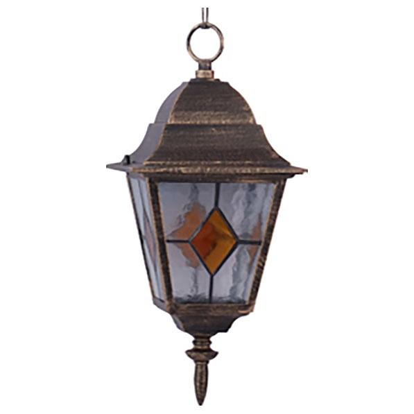 Подвесной светильник Arte LampСветильники<br>Артикул - AR_A1015SO-1BN,Бренд - Arte Lamp (Италия),Коллекция - Berlin,Гарантия, месяцы - 24,Время изготовления, дней - 1,Длина, мм - 180,Ширина, мм - 180,Высота, мм - 380-1050,Размер упаковки, мм - 195x195x225,Тип лампы - компактная люминесцентная [КЛЛ] ИЛИнакаливания ИЛИсветодиодная [LED],Общее кол-во ламп - 1,Напряжение питания лампы, В - 220,Максимальная мощность лампы, Вт - 100,Лампы в комплекте - отсутствуют,Цвет плафонов и подвесок - коричневый, неокрашенный,Тип поверхности плафонов - прозрачный,Материал плафонов и подвесок - стекло,Цвет арматуры - черно-золотой,Тип поверхности арматуры - матовый,Материал арматуры - металл,Количество плафонов - 1,Тип цоколя лампы - E27,Класс электробезопасности - II,Степень пылевлагозащиты, IP - 44,Диапазон рабочих температур - от -40^C до +40^C,Дополнительные параметры - способ крепления светильника к потолку — на монтажной пластине, стиль Тиффани<br>