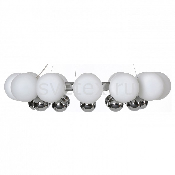 Подвесная люстра LightstarЛюстры<br>Артикул - LS_801124,Бренд - Lightstar (Италия),Коллекция - Sferetta,Гарантия, месяцы - 24,Время изготовления, дней - 1,Высота, мм - 300-1000,Диаметр, мм - 640,Тип лампы - галогеновая,Общее кол-во ламп - 12,Напряжение питания лампы, В - 220,Максимальная мощность лампы, Вт - 40,Цвет лампы - белый теплый,Лампы в комплекте - галогеновые G9,Цвет плафонов и подвесок - белый,Тип поверхности плафонов - матовый,Материал плафонов и подвесок - стекло,Цвет арматуры - хром,Тип поверхности арматуры - глянцевый,Материал арматуры - металл,Количество плафонов - 12,Возможность подлючения диммера - можно,Форма и тип колбы - пальчиковая,Тип цоколя лампы - G9,Цветовая температура, K - 2800 - 3200 K,Экономичнее лампы накаливания - на 50%,Класс электробезопасности - I,Общая мощность, Вт - 480,Степень пылевлагозащиты, IP - 20,Диапазон рабочих температур - комнатная температура,Дополнительные параметры - высота светильника регулируется<br>