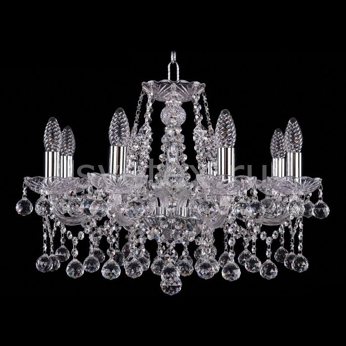 Фото Подвесная люстра Bohemia Ivele Crystal 1413 1413/8/200/Ni/Balls