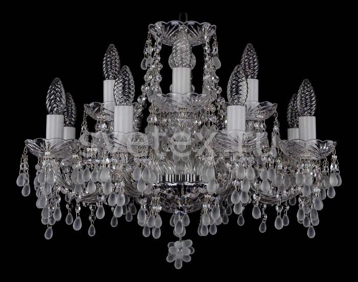Фото Подвесная люстра Bohemia Ivele Crystal 1410 1410/8_4/195/Ni/0300