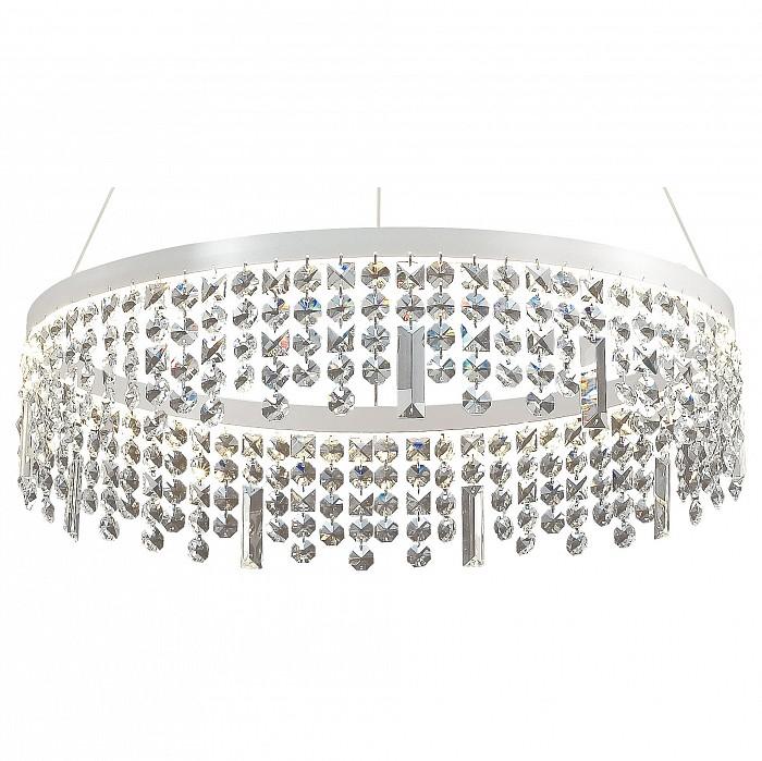 Подвесной светильник FavouriteПодвесные светильники<br>Артикул - FV_1780-6P,Бренд - Favourite (Германия),Коллекция - Splatter,Гарантия, месяцы - 24,Высота, мм - 910,Диаметр, мм - 600,Тип лампы - светодиодная [LED],Общее кол-во ламп - 6,Напряжение питания лампы, В - 220,Максимальная мощность лампы, Вт - 7,Цвет лампы - белый,Лампы в комплекте - светодиодные [LED],Цвет плафонов и подвесок - неокрашенный,Тип поверхности плафонов - прозрачный,Материал плафонов и подвесок - хрусталь,Цвет арматуры - белый,Тип поверхности арматуры - матовый,Материал арматуры - металл,Возможность подлючения диммера - нельзя,Цветовая температура, K - 4000 K,Световой поток, лм - 6930,Экономичнее лампы накаливания - в 10 раз,Светоотдача, лм/Вт - 165,Класс электробезопасности - I,Общая мощность, Вт - 42,Степень пылевлагозащиты, IP - 20,Диапазон рабочих температур - комнатная температура,Дополнительные параметры - способ крепления светильника к потолку – на монтажной пластине<br>