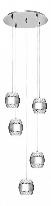 Подвесной светильник MantraБарные<br>Артикул - MN_5169,Бренд - Mantra (Испания),Коллекция - Khalifa,Гарантия, месяцы - 24,Высота, мм - 220-1500,Диаметр, мм - 550,Тип лампы - светодиодная [LED],Общее кол-во ламп - 5,Максимальная мощность лампы, Вт - 12,Цвет лампы - белый теплый,Лампы в комплекте - светодиодные [LED],Цвет плафонов и подвесок - неокрашенный, хром,Тип поверхности плафонов - глянцевый, прозрачный,Материал плафонов и подвесок - металл, стекло,Цвет арматуры - хром,Тип поверхности арматуры - глянцевый,Материал арматуры - металл,Количество плафонов - 5,Возможность подлючения диммера - нельзя,Цветовая температура, K - 3000 K,Световой поток, лм - 5400,Экономичнее лампы накаливания - в 5.5 раза,Светоотдача, лм/Вт - 90,Класс электробезопасности - I,Напряжение питания, В - 220,Общая мощность, Вт - 60,Степень пылевлагозащиты, IP - 20,Диапазон рабочих температур - комнатная температура,Дополнительные параметры - способ крепления светильника к потолку - на монтажной пластине, размер плафона 140х153мм<br>