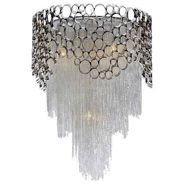 Подвесной светильник Crystal LuxПодвесные светильники<br>Артикул - CU_1960_306,Бренд - Crystal Lux (Испания),Коллекция - Hauberk,Гарантия, месяцы - 24,Высота, мм - 700,Диаметр, мм - 450,Тип лампы - компактная люминесцентная [КЛЛ] ИЛИнакаливания ИЛИсветодиодная [LED],Общее кол-во ламп - 6,Напряжение питания лампы, В - 220,Максимальная мощность лампы, Вт - 40,Лампы в комплекте - отсутствуют,Цвет плафонов и подвесок - никель, хром,Тип поверхности плафонов - матовый, глянцевый,Материал плафонов и подвесок - металл,Цвет арматуры - хром,Тип поверхности арматуры - глянцевый,Материал арматуры - металл,Количество плафонов - 1,Возможность подлючения диммера - можно, если установить лампу накаливания,Тип цоколя лампы - E27,Класс электробезопасности - I,Общая мощность, Вт - 240,Степень пылевлагозащиты, IP - 20,Диапазон рабочих температур - комнатная температура,Дополнительные параметры - способ крепления светильника к потолку – на монтажной пластине, указана высота светильника без подвеса<br>