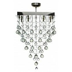 Накладной светильник Arti LampadariКвадратные<br>Артикул - AL_Flusso_H_1.4.50.515_N,Бренд - Arti Lampadari (Италия),Коллекция - Flusso,Гарантия, месяцы - 24,Высота, мм - 660,Тип лампы - галогеновая ИЛИсветодиодная [LED],Общее кол-во ламп - 8,Напряжение питания лампы, В - 220,Максимальная мощность лампы, Вт - 40,Лампы в комплекте - отсутствуют,Цвет плафонов и подвесок - неокрашенный,Тип поверхности плафонов - прозрачный,Материал плафонов и подвесок - хрусталь,Цвет арматуры - никель,Тип поверхности арматуры - глянцевый,Материал арматуры - металл,Возможность подлючения диммера - можно, если установить галогеновую лампу,Форма и тип колбы - пальчиковая,Тип цоколя лампы - G9,Класс электробезопасности - I,Общая мощность, Вт - 320,Степень пылевлагозащиты, IP - 20,Диапазон рабочих температур - комнатная температура,Дополнительные параметры - способ крепления к потолку - на монтажной пластине<br>