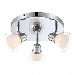 Спот GloboС 3 лампами<br>Артикул - GB_56182-3,Бренд - Globo (Австрия),Коллекция - Nashville,Гарантия, месяцы - 24,Диаметр, мм - 385,Размер упаковки, мм - 115x110x135,Тип лампы - светодиодная [LED],Общее кол-во ламп - 3,Напряжение питания лампы, В - 12,Максимальная мощность лампы, Вт - 4,Лампы в комплекте - светодиодные [LED],Цвет плафонов и подвесок - белый, неокрашенный,Тип поверхности плафонов - матовый, прозрачный,Материал плафонов и подвесок - полимер,Цвет арматуры - хром,Тип поверхности арматуры - глянцевый,Материал арматуры - металл,Возможность подлючения диммера - нельзя,Класс электробезопасности - I,Общая мощность, Вт - 12,Степень пылевлагозащиты, IP - 20,Диапазон рабочих температур - комнатная температура,Дополнительные параметры - способ крепления светильника к стене и потолку - на монтажной пластине, поворотный светильник<br>