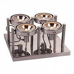 Спот GloboС 4 лампами<br>Артикул - GB_5645-4,Бренд - Globo (Австрия),Коллекция - Kuriana,Гарантия, месяцы - 24,Размер упаковки, мм - 370x330x180,Тип лампы - галогеновая,Общее кол-во ламп - 4,Напряжение питания лампы, В - 220,Максимальная мощность лампы, Вт - 60,Лампы в комплекте - галогеновые G9,Цвет плафонов и подвесок - хром,Тип поверхности плафонов - глянцевый,Материал плафонов и подвесок - сталь,Цвет арматуры - хром,Тип поверхности арматуры - глянцевый,Материал арматуры - сталь,Возможность подлючения диммера - можно,Форма и тип колбы - пальчиковая,Тип цоколя лампы - G9,Класс электробезопасности - I,Общая мощность, Вт - 240,Степень пылевлагозащиты, IP - 20,Диапазон рабочих температур - комнатная температура,Дополнительные параметры - поворотный светильник<br>